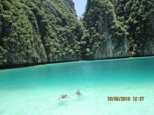 Lokasi snorkeling di Phi-phi Ley